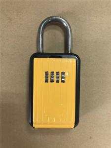 China Portable Type Car Key Lock Box , Car Key Safe Lock Boxes in Yellow on sale
