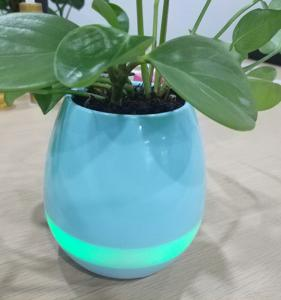 China Plastic shell musical music bluetooth speaker flower pot on sale