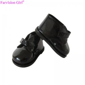 China Wholesale 18 shoes accessories for dolls black doll shoes for boy on sale