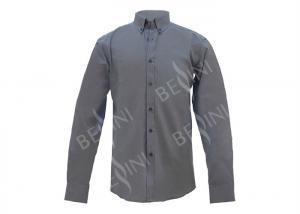 China Soft Hand Feel Custom Work Apparel , Mens Long Sleeve Oxford Shirts 140gsm on sale