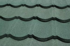 China Roman hot dipped galvanized Steel Roof Tiles Green Colour For metal roofing materials on sale