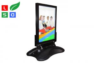 China Outdoor LED Poster Display Stand Rechargeable Battery With 8 - 12 Hours Power Supporting on sale