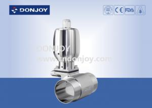 China Mini T type Tee Sanitary Diaphragm Valve with pneumatic actuator on sale