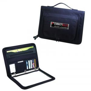 China 600D polyester with heavy vinyl backing ZIPPERED BINDER PADFOLIO on sale