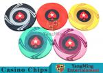 Ceramic Casino Poker Chips , Poker Chips And CardsWith Dynamic Textures Design