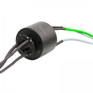 China 15 Circuits Through Bore Ethernet Slip Ring Transmitting Current and Signal supplier