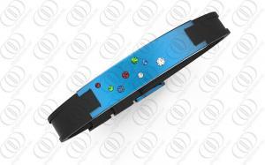 China Braceletes magnéticos da saúde azul do IP de PVD com cristais efervescentes on sale