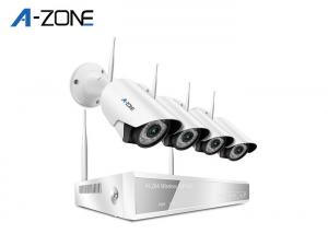 China Night Vision Wireless CCTV Camera Kit 4CH , Wireless Ip Camera System With Dvr on sale