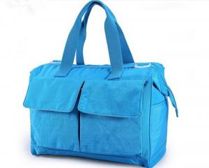 China Blue Recycle Pretty designer Baby Diaper Bags , Baby Nappy Changing Bag on sale