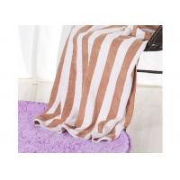 Hotel 100% Cotton Beach Towels , Rectangle Cotton Terry Towel Water Soluble
