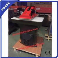 China 25ton hydraulic clicking swing arm atom shoes cutting machine on sale