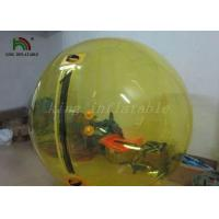 Yellow Color 1.0mm PVC Inflatable Walk On Water Balls / Water Bubble / Human Sphere
