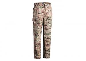 China Multicamo Military Combat Trousers With Cargo Pockets Quick Dry Scratch Resistant on sale