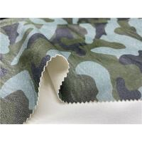 China Camouflage Printed Pu Synthetic Leather Embossed Leather Fabric For Men'S Jacket on sale