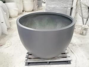 China Factory direct sales light weight outdoor large round fiberglass flower pots on sale