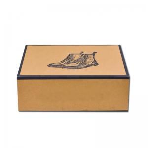 China Custom Printing Folding Corrugated Shoe Boxes Rectangular Shape With Long Service Life on sale