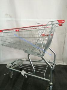 China Galvanized Unfolding Supermarket Shopping Trolley German Four Casters on sale