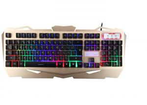 China Korea Layout USB Gaming Keyboard Multimedia With Suspension Keycaps Aluminum Cover on sale