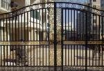 Rustproof Wrought Iron Doors Paint Or Powder Coating Surface Treatment