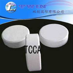 Quality Trichloroisocyanuric acid used as water treatment TCCA 90%min for sale