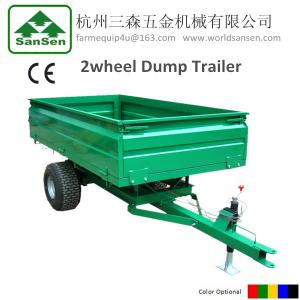 China 1TR2W tractor trailer 1.0Ton Loading capacity,farm Hydraulic dump trailer with CE on sale