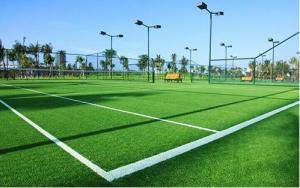 China 40mm Indoor Football Artificial Grass, Soccer Artificial Grass For Outdoor Space, Natural Turf For Football Field on sale