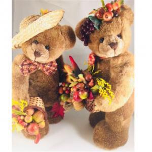 China Personalized Plush Teddy Bears STANDING OOAK Fall Bounty Bears For Girlfriend on sale