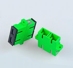 China Low Insertion Loss Fiber Optic Adapter SC / APC Single Mode With Flange on sale
