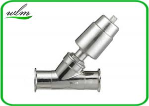 China Double Acting Hygienic Valves Pneumatic Angle Seat Valve PTFE Seal Material on sale