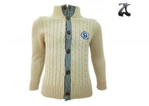 China 100 % Cotton Boys Knit Sweater Outwear , Kids Baby Boy Cable Knit Cardigans Sweater on sale