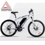 Carbon Fiber Frame Off Road Electric Mountain Bikes With 48V 10.4Ah Lithium Battery