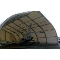 Curve Airplane Tent , Aluminum Structure Tent With Automatic Or Manual Lifting Door
