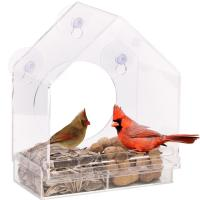 China Wholesale Window Bird Feeder House with  Removable Tray, Drain Holes on sale