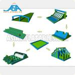 72M Long Interactive Adult Inflatable Obstacle Course The Inflatable 5k Obstacle Run from Guangzhou Inflatable Factory