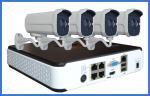 POE IPC NVR CCTV Camera Kits home security dvr recorder 4 PCS 1080P