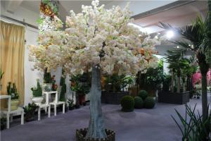 White Artificial 3m Cherry Blossom Tree For Indoor Wedding