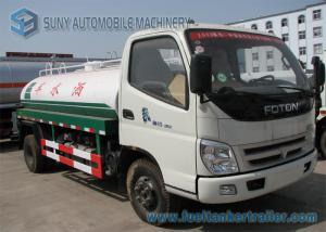 China 2 Axles 2000 L -3000 L Sanitation Truck , Foton Water Tanker Truck 103 hp 4*2 drive on sale