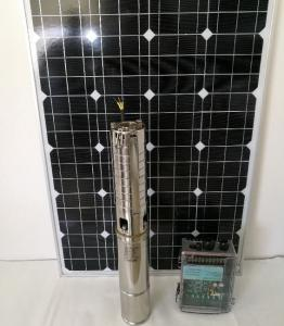China 4 Inch DC Solar Deep Well Submersible Pump , Solar Powered Water Pump For Irrigation on sale