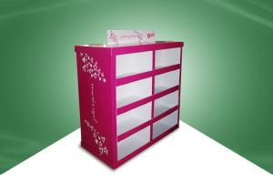 China Rose Red Strong Paper Cardboard Pallet Display in Stores 80X60X130CM on sale