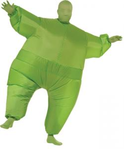 China Mens Green Skin Suit Adult Inflatable Costumes For Halloween on sale