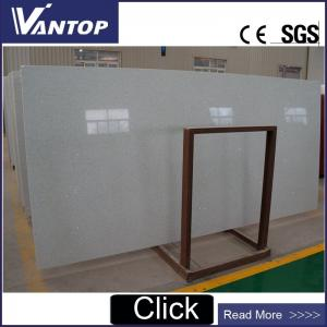 China VT1800 Polished Stellar White Artificial Quartz Stone Surface on sale