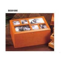 China Black PVC Leather Photo Box on sale