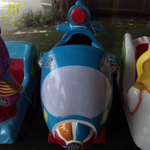 China Hansel amusement park fiber glass electric kid motorcycle ride on toy on sale