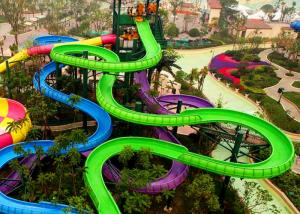 China Water Park Spiral Water Slide Customized Colors For Water Sport Games on sale