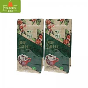 China Eight sides hot seal plastic stand up zipper roasted coffee package bags with valve on sale