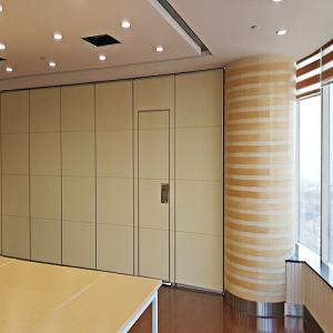 China Interior Office Partition Walls , Folding Room Dividers with Sliding Aluminium Track Roller on sale