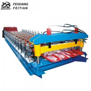 China Galvanize Aluminium Iron Color Steel Roll Forming Machine 8-12/Min Working Speed on sale