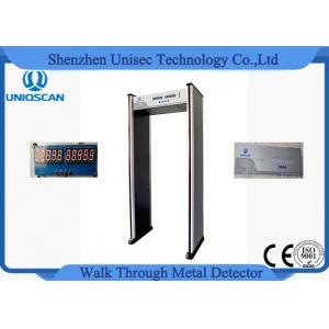 China 6 Zone 5 No Count Led Walkthrough Metal Detector Door Frame For Security on sale
