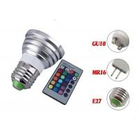 China Rgb E27 Led Spot Bulbs 3w Epistar Chip Long Lifespan With Rgb Controller on sale