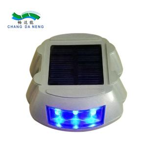 China Warning Road Safety Horseshoe Led Solar Powered Road Studs Flashing Pier Light supplier
